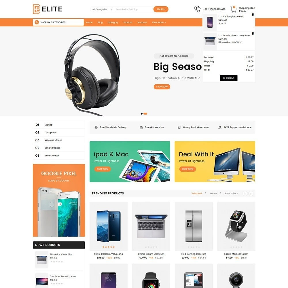 theme - Electronics & Computers - Elite Electronics Store - 2