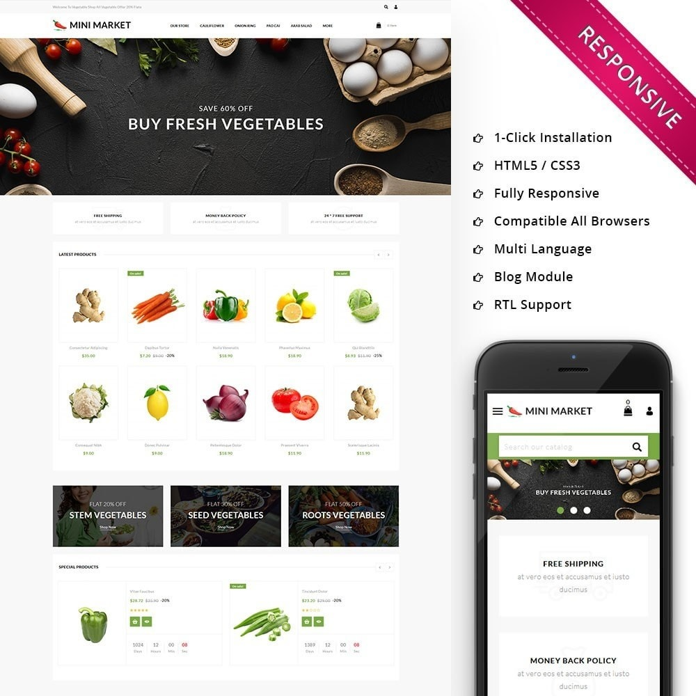 theme - Продовольствие и рестораны - Minimarket - The Grocery Store - 1