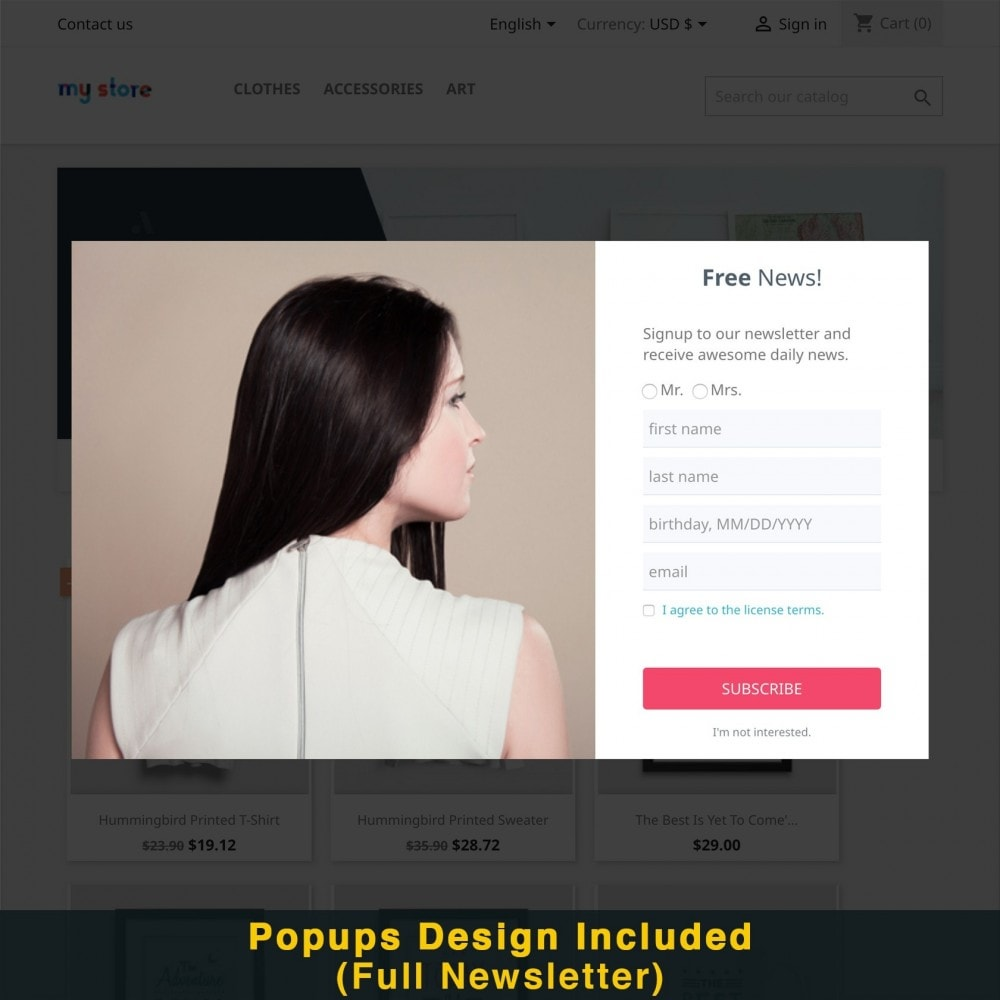 module - Promotions & Gifts - Smart Popup (Newsletter Popup) - 18