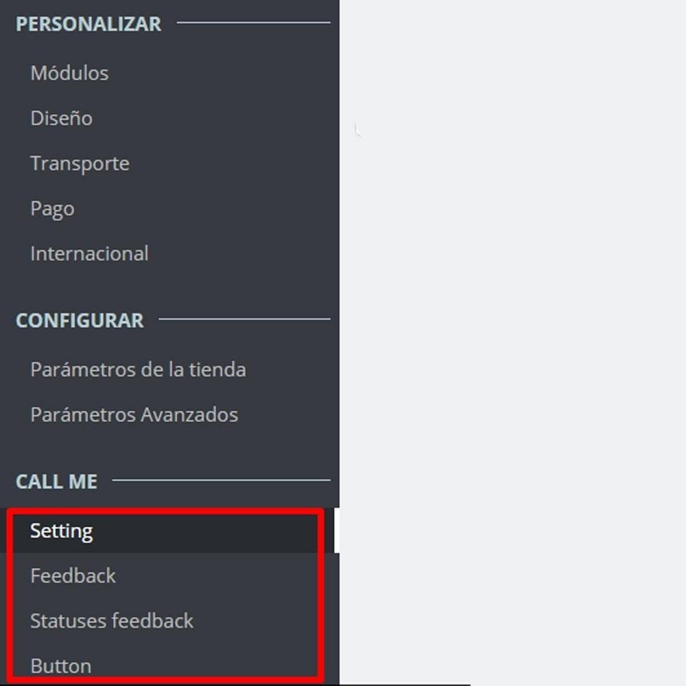 module - Asistencia & Chat online - Llámame - Módulo de devolución de llamada - 12