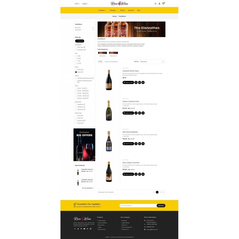 theme - Drink & Wine - Rose Wine Store - 4