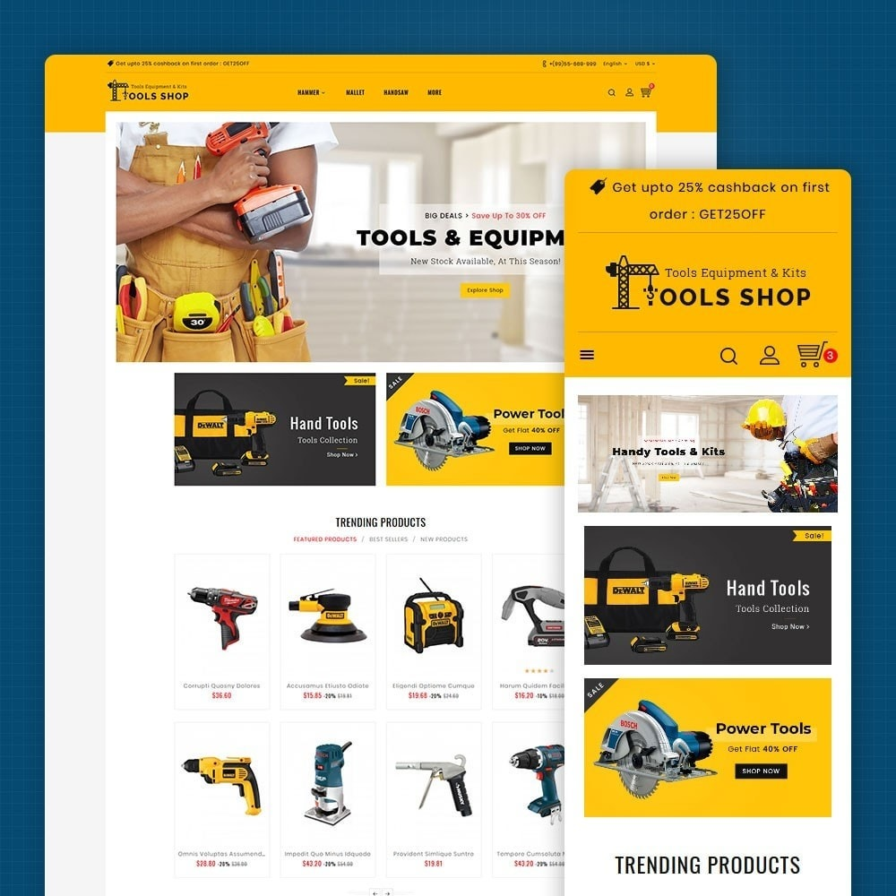 theme - Home & Garden - Tools Equipment Shop - 1