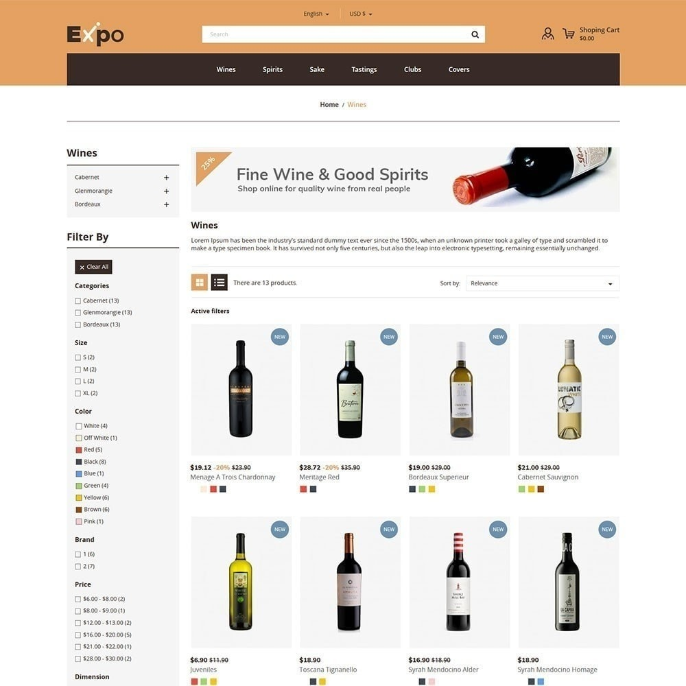 theme - Bebidas y Tabaco - Expo - Tienda de vinos - 4