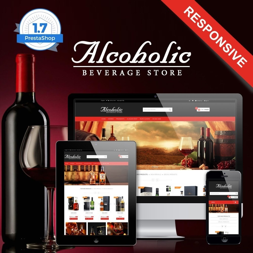 Alcoholic & Wine Shop HTML5