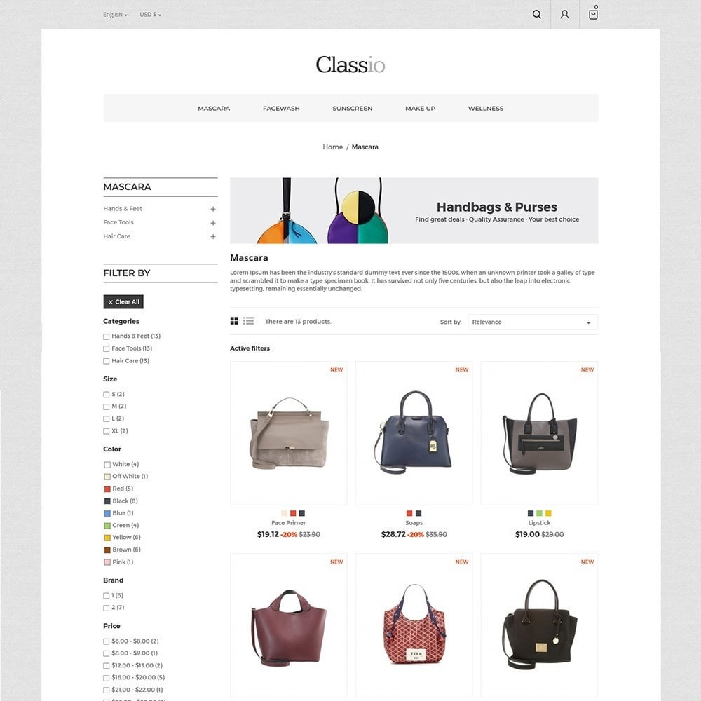 theme - Fashion & Shoes - Classio Bag - Fashion Store - 3