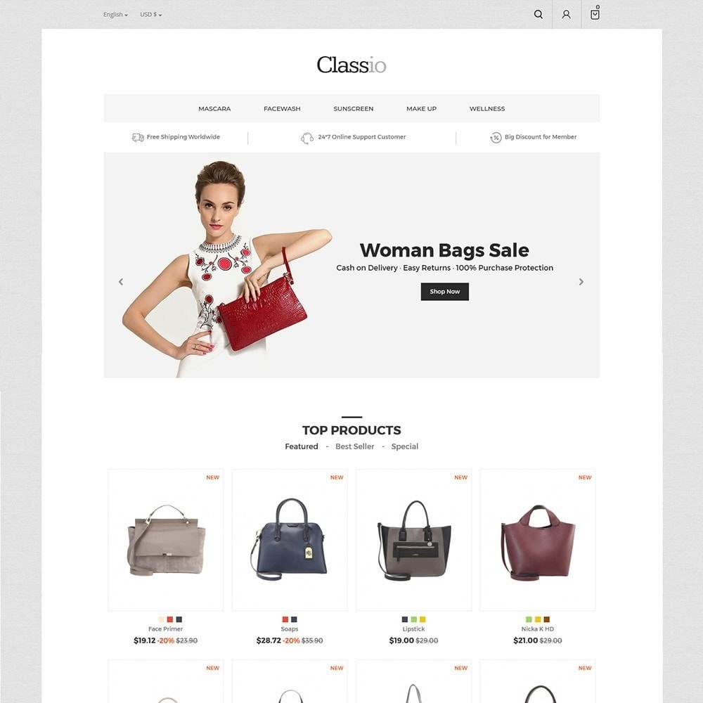 theme - Mode & Chaussures - Classio Bag - Magasin de mode - 3