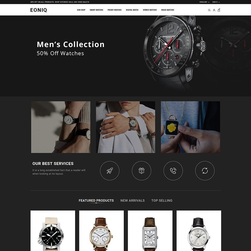 theme - Electronics & Computers - Eoniq - The Watch Store - 2
