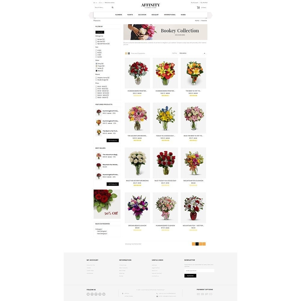 theme - Gifts, Flowers & Celebrations - Affinity Flower Store - 3