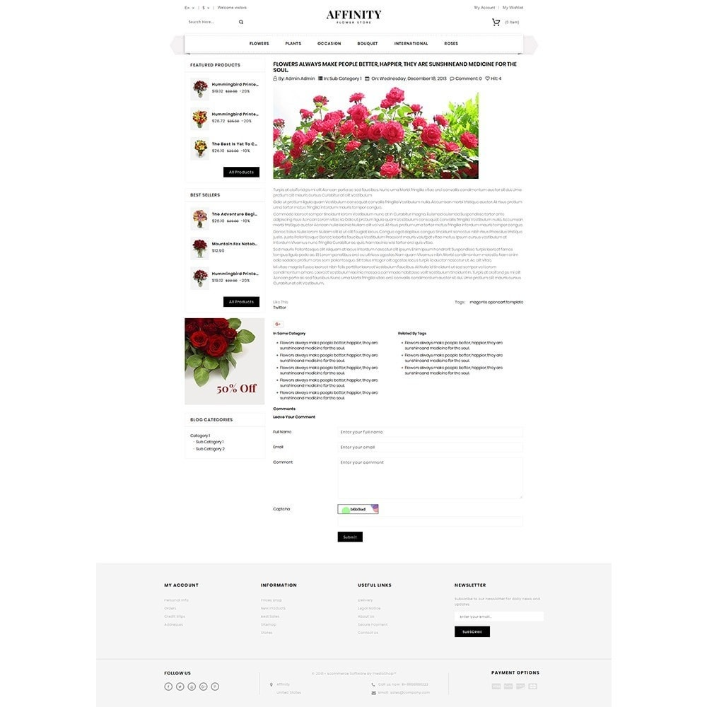 theme - Gifts, Flowers & Celebrations - Affinity Flower Store - 6