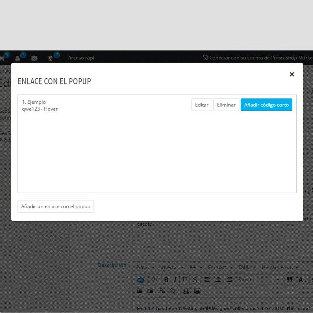 module - Informaciones adicionales y Pestañas - Módulo Custom Tooltip - 7