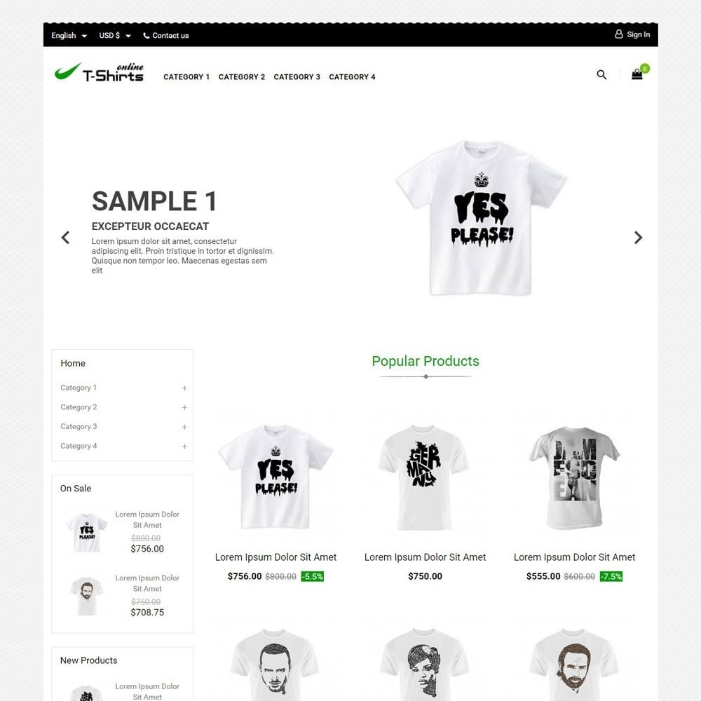 theme - Mode & Chaussures - T-shirtsOnline - 1