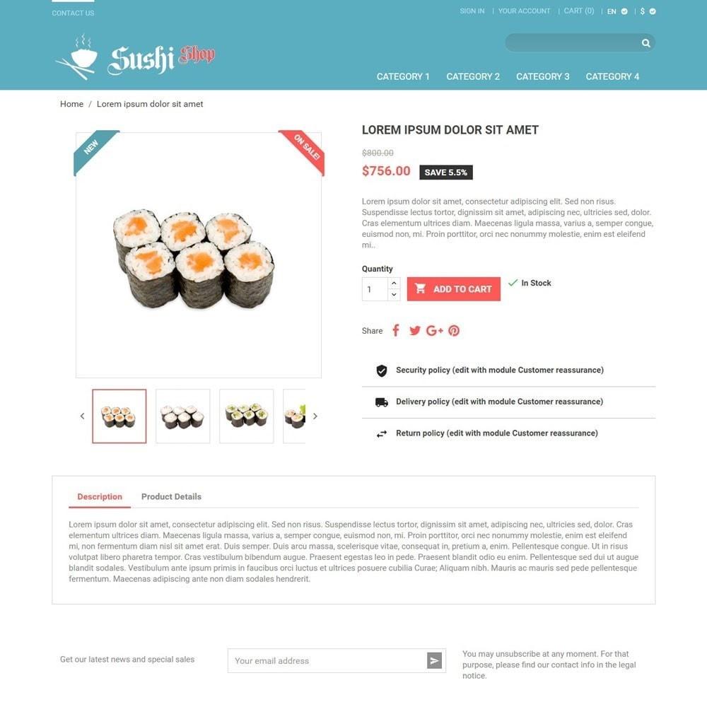 theme - Gastronomía y Restauración - SushiShop - 3