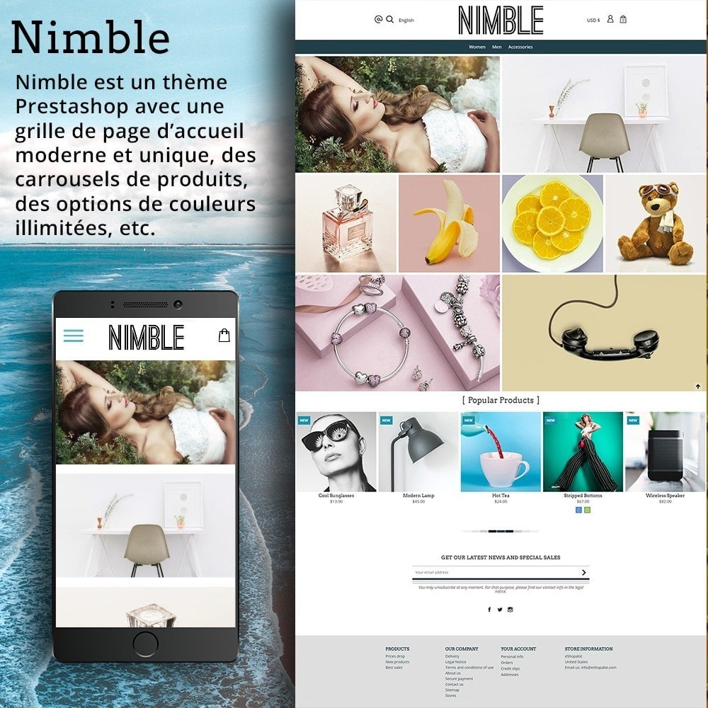 theme - Mode & Chaussures - Nimble Grille - 2