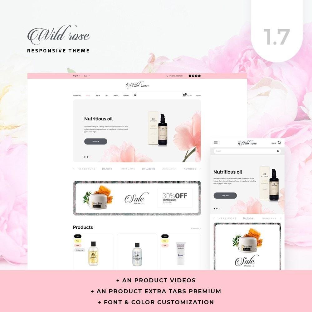 theme - Health & Beauty - Wild rose Cosmetics - 1