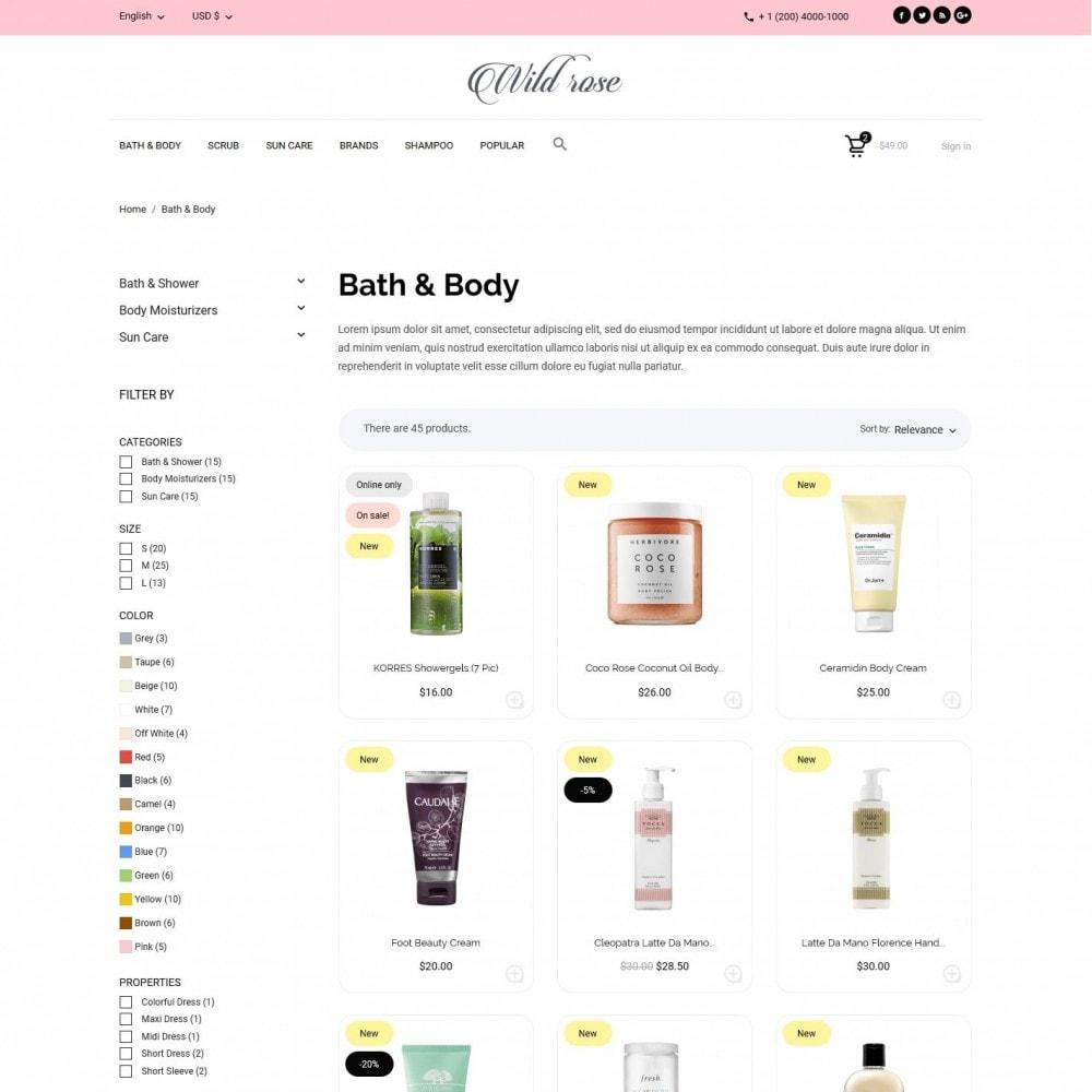 theme - Health & Beauty - Wild rose Cosmetics - 5
