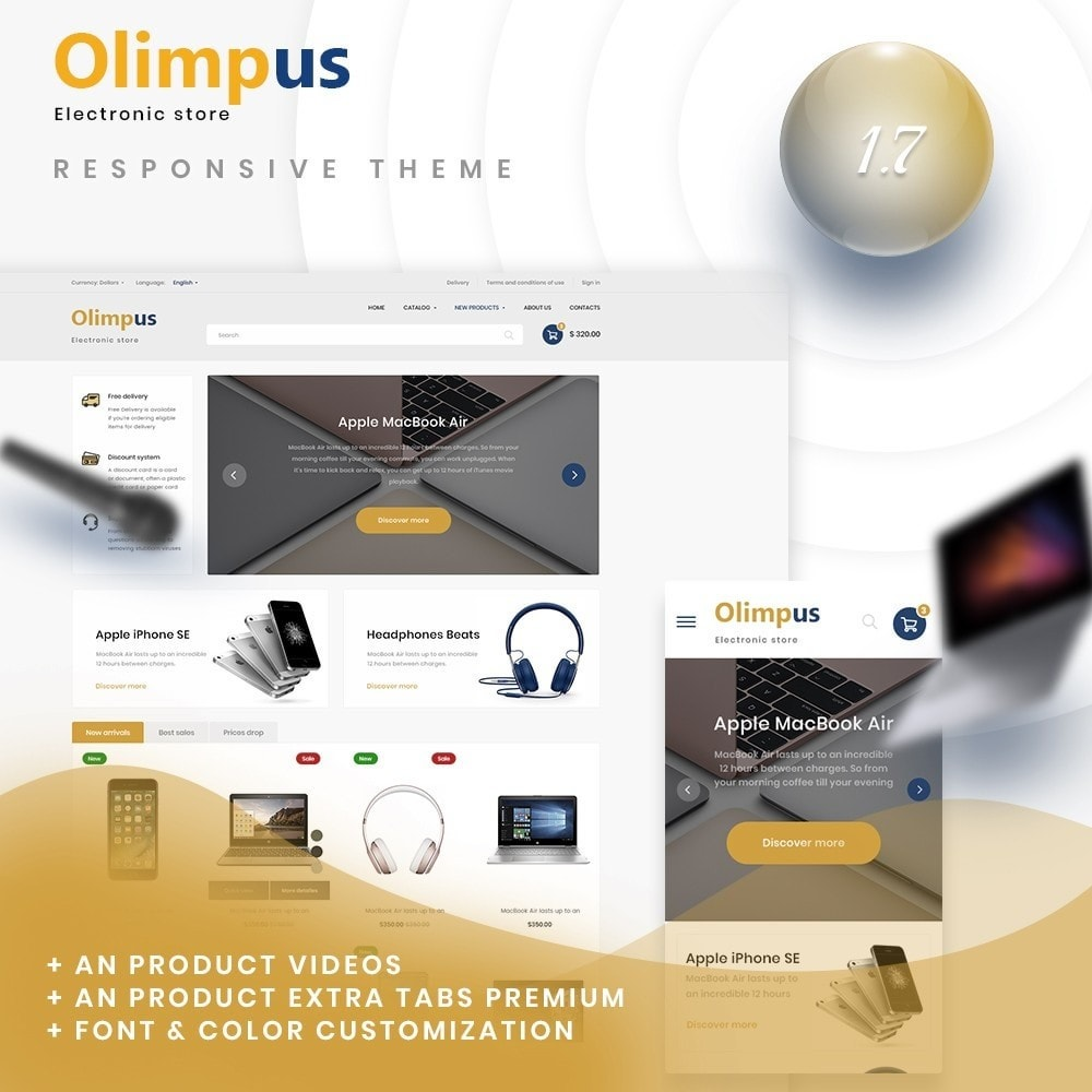 theme - Electronics & Computers - Olimpus - High-tech Shop - 1