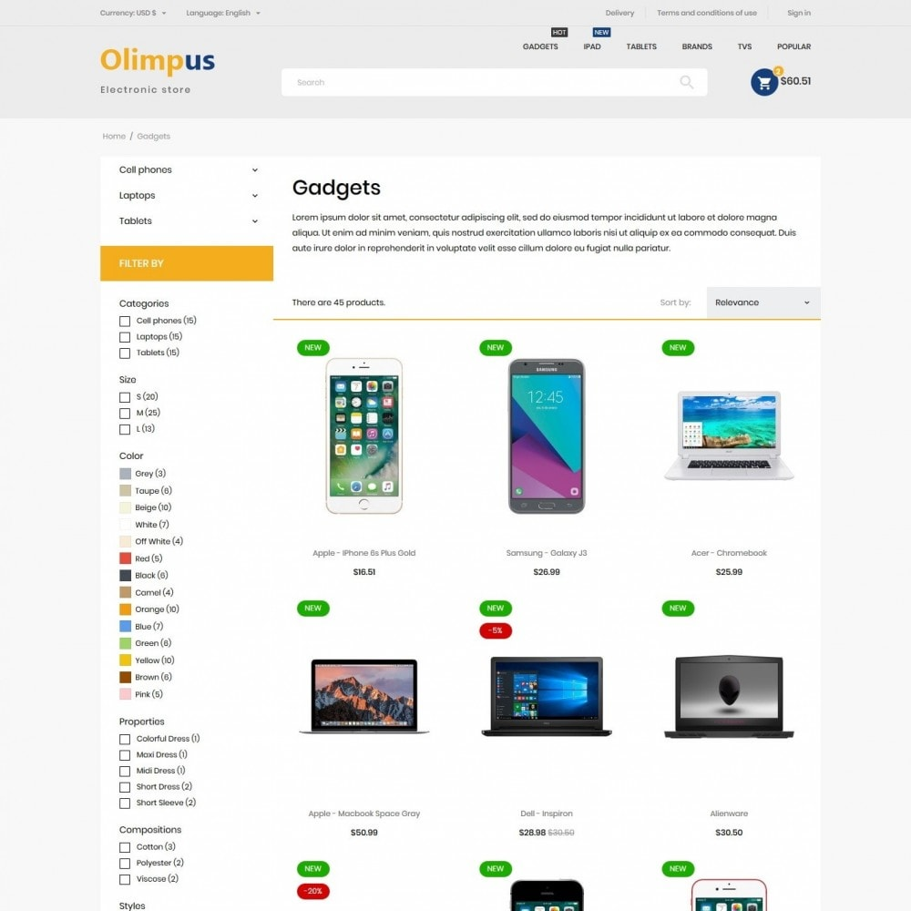 theme - Electronics & Computers - Olimpus - High-tech Shop - 5
