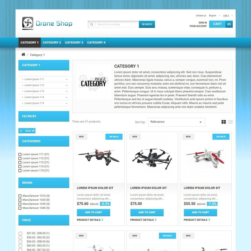 theme - Sports, Activities & Travel - DroneShop - 2