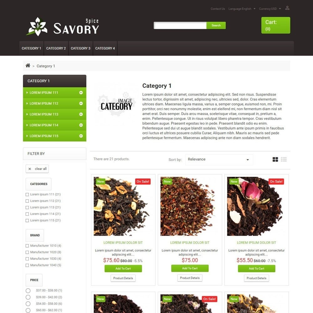 theme - Food & Restaurant - SavorySpice - 2