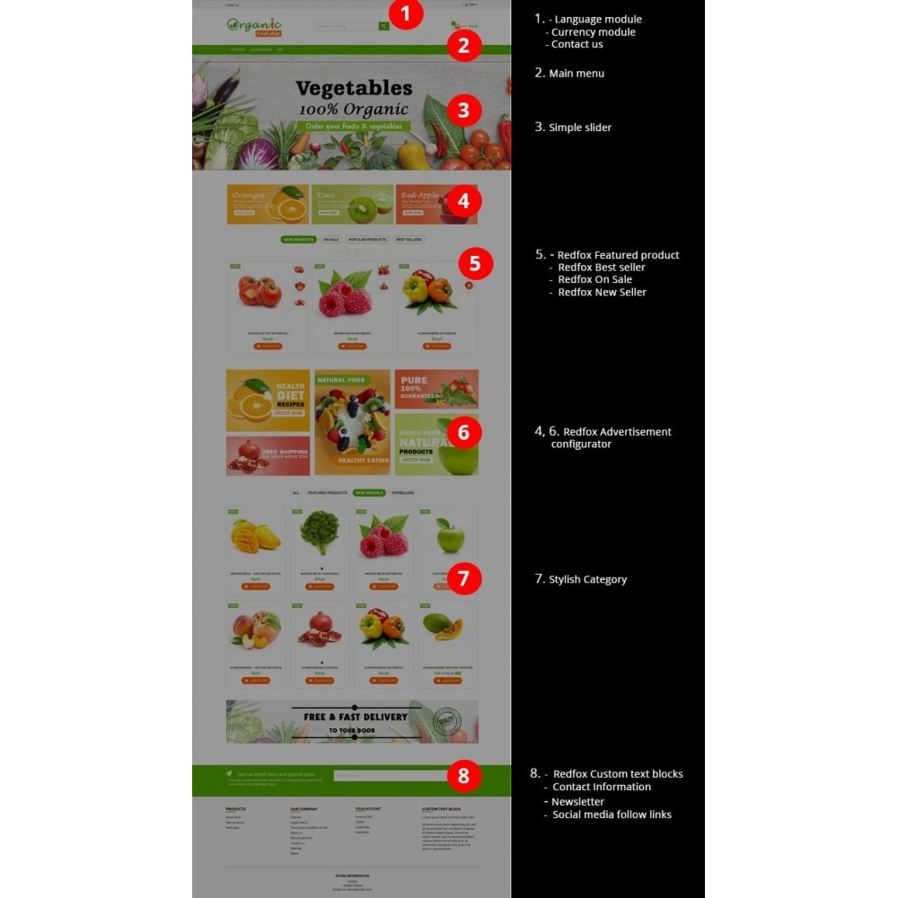 theme - Eten & Restaurant - Organic Fresh Naturals Multipurpose HTML5 - 2