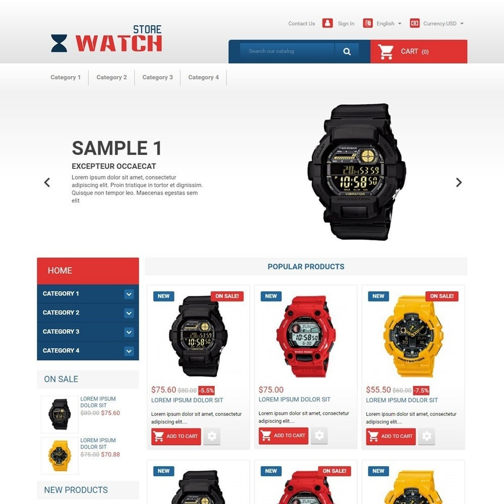 theme - Electronique & High Tech - WatchStore - 1