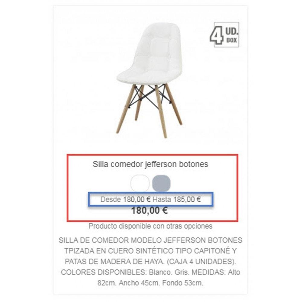 module - Preisverwaltung - Show price range in product list - 3