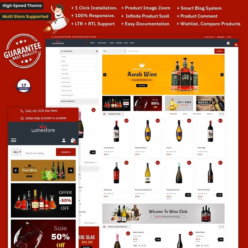 theme - Bebidas & Tabaco - Wine Store – The Wine Mega Shop - 1