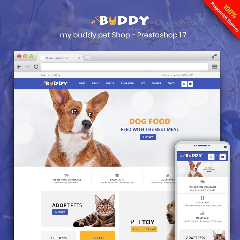 theme - Tier - Mybuddy - Pets Online Store - 1