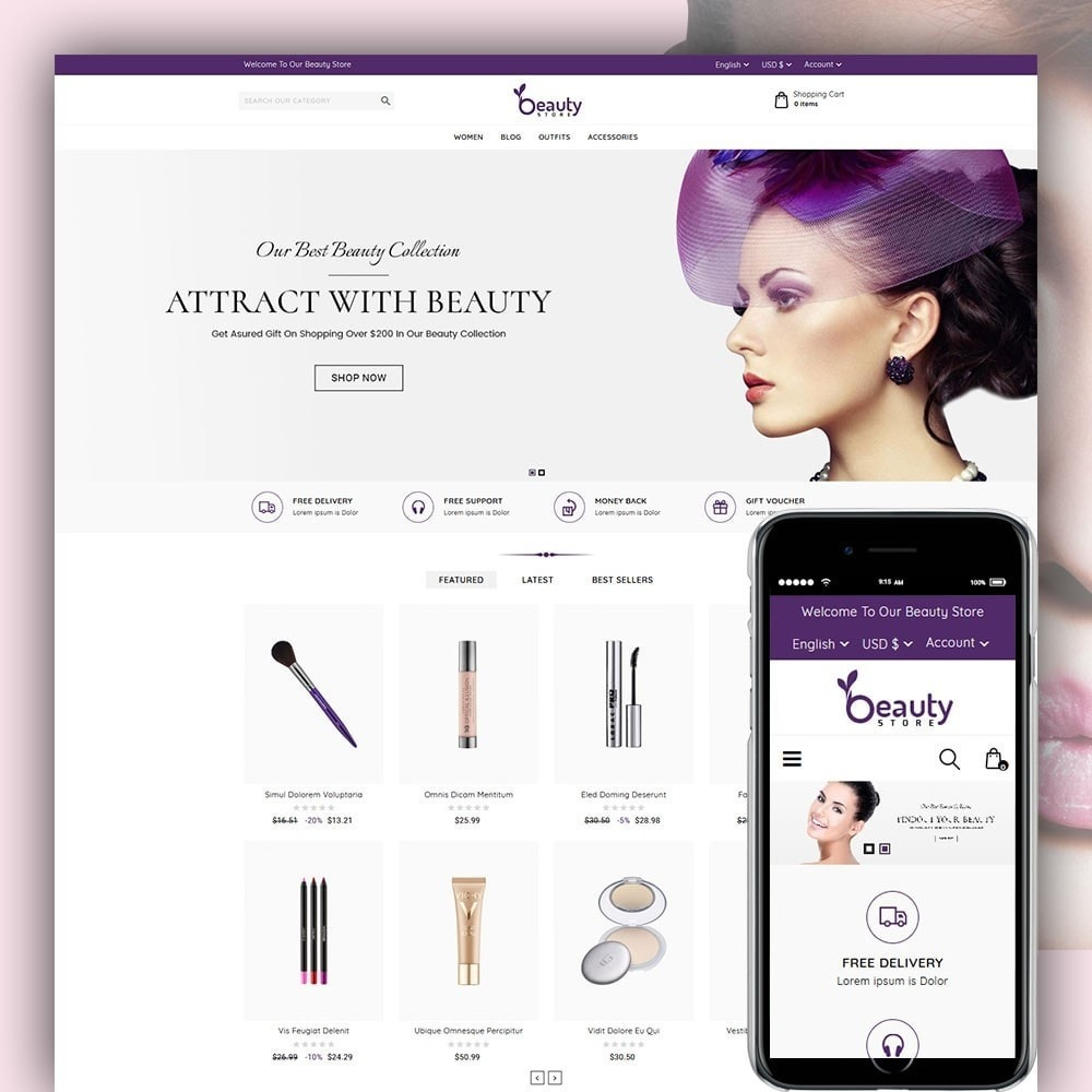 theme - Health & Beauty - Beauty Store - 1