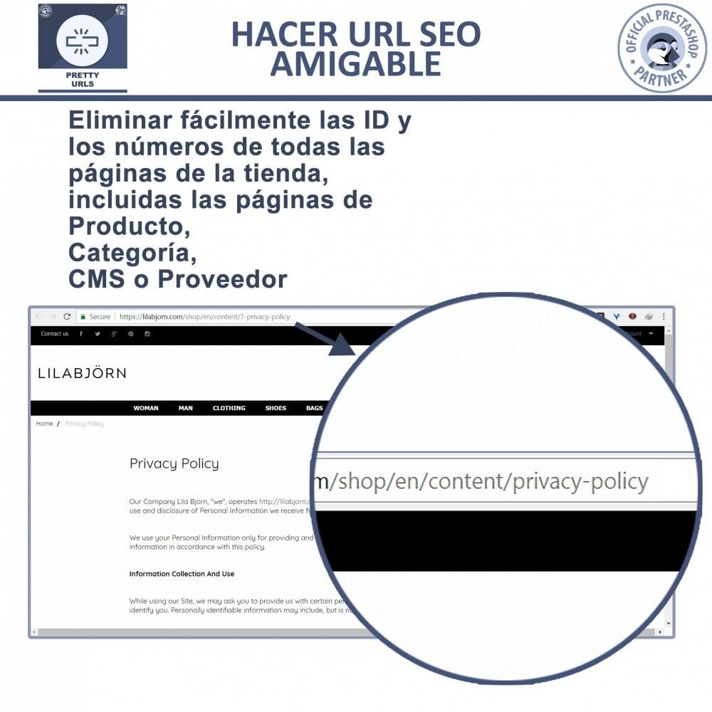 module - URL y Redirecciones - Pretty URLs - Eliminar Ids y números desde de URL - 2