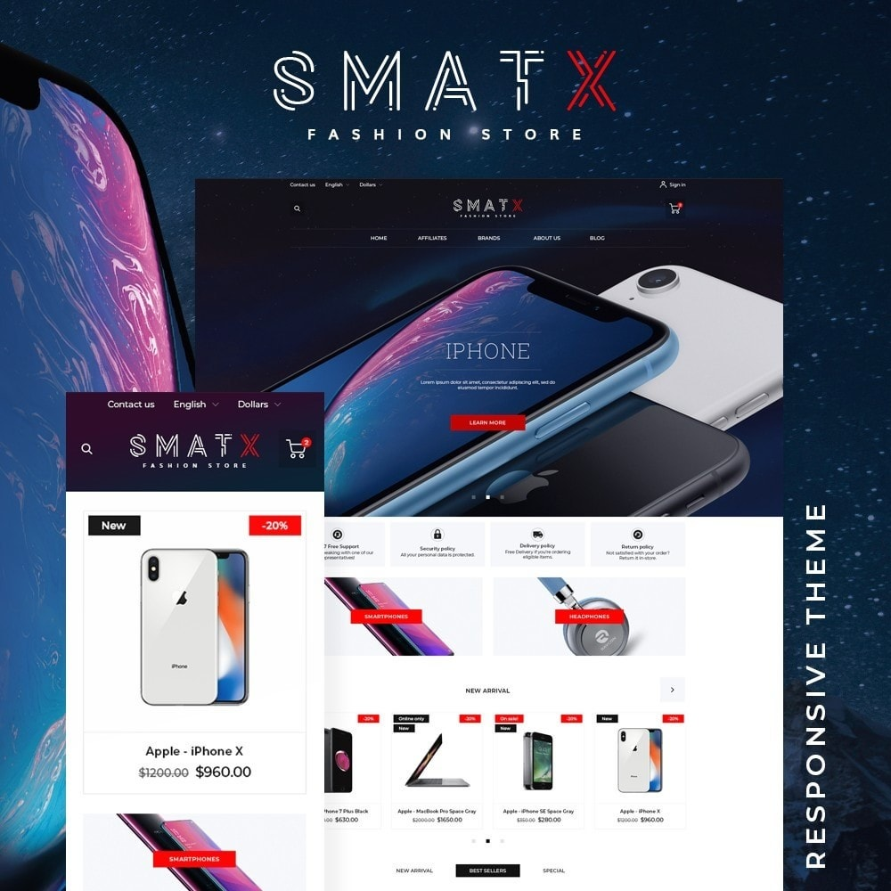 theme - Electronics & Computers - SmatX - High-tech Shop - 1