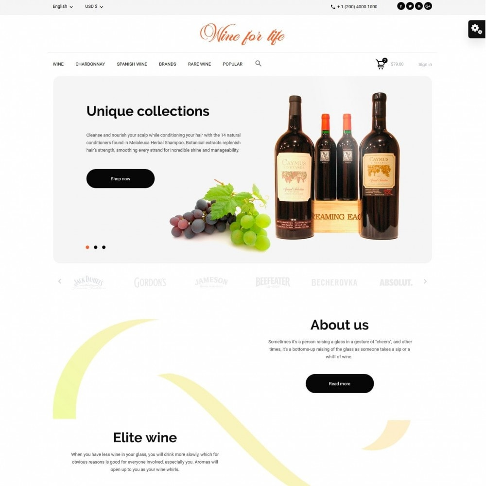 theme - Drank & Tabak - Wine for life Shop - 2