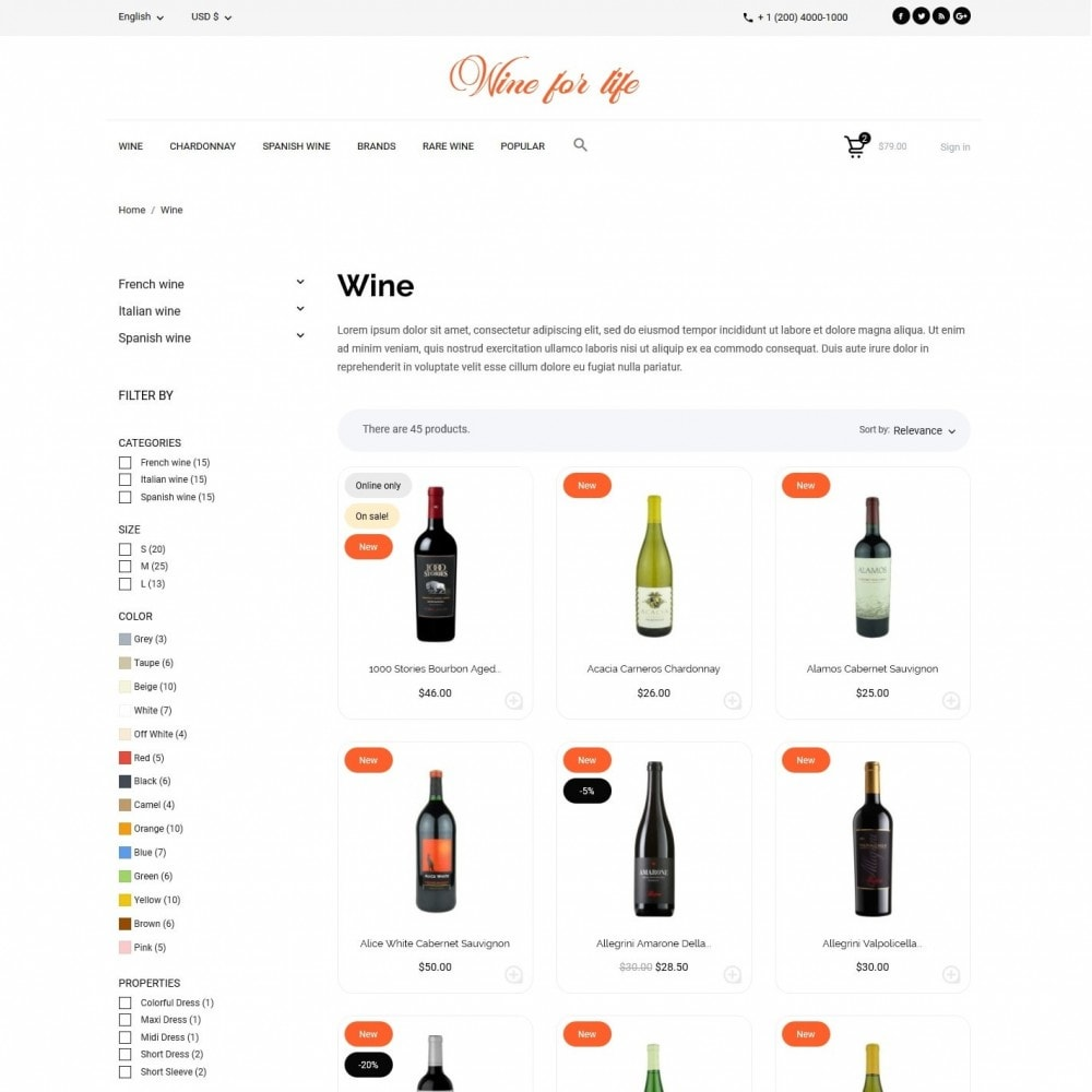 theme - Drank & Tabak - Wine for life Shop - 5