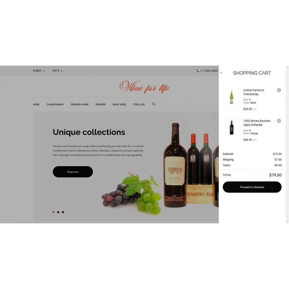 theme - Drank & Tabak - Wine for life Shop - 7