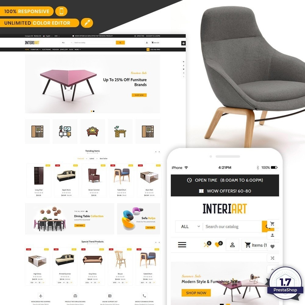 Interi Art - Designer Furniture Shop