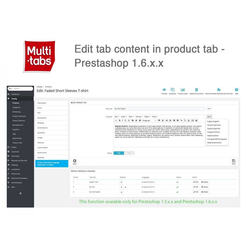 module - Internationaal & Lokalisatie - Product Tabs (Multi-Language, Responsive, 12 styles) - 3