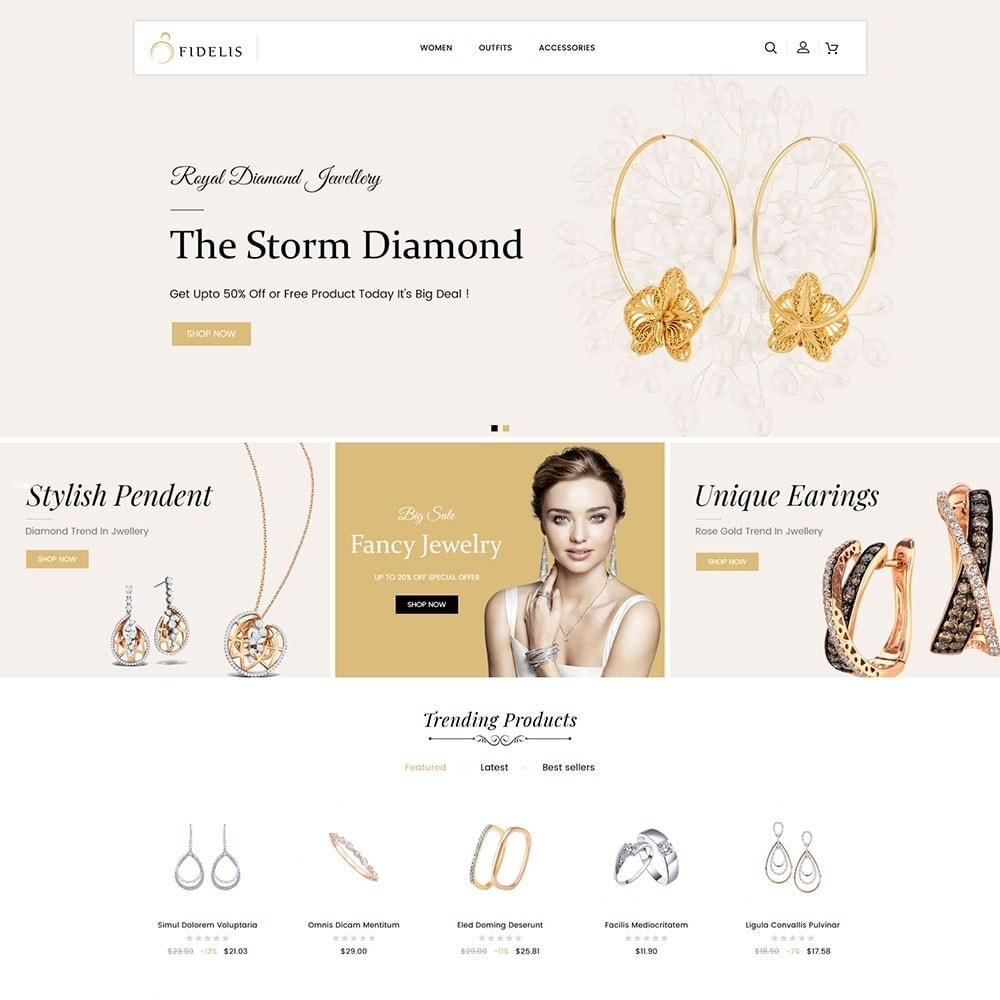theme - Jewelry & Accessories - Fidelis Jewellery Store - 2