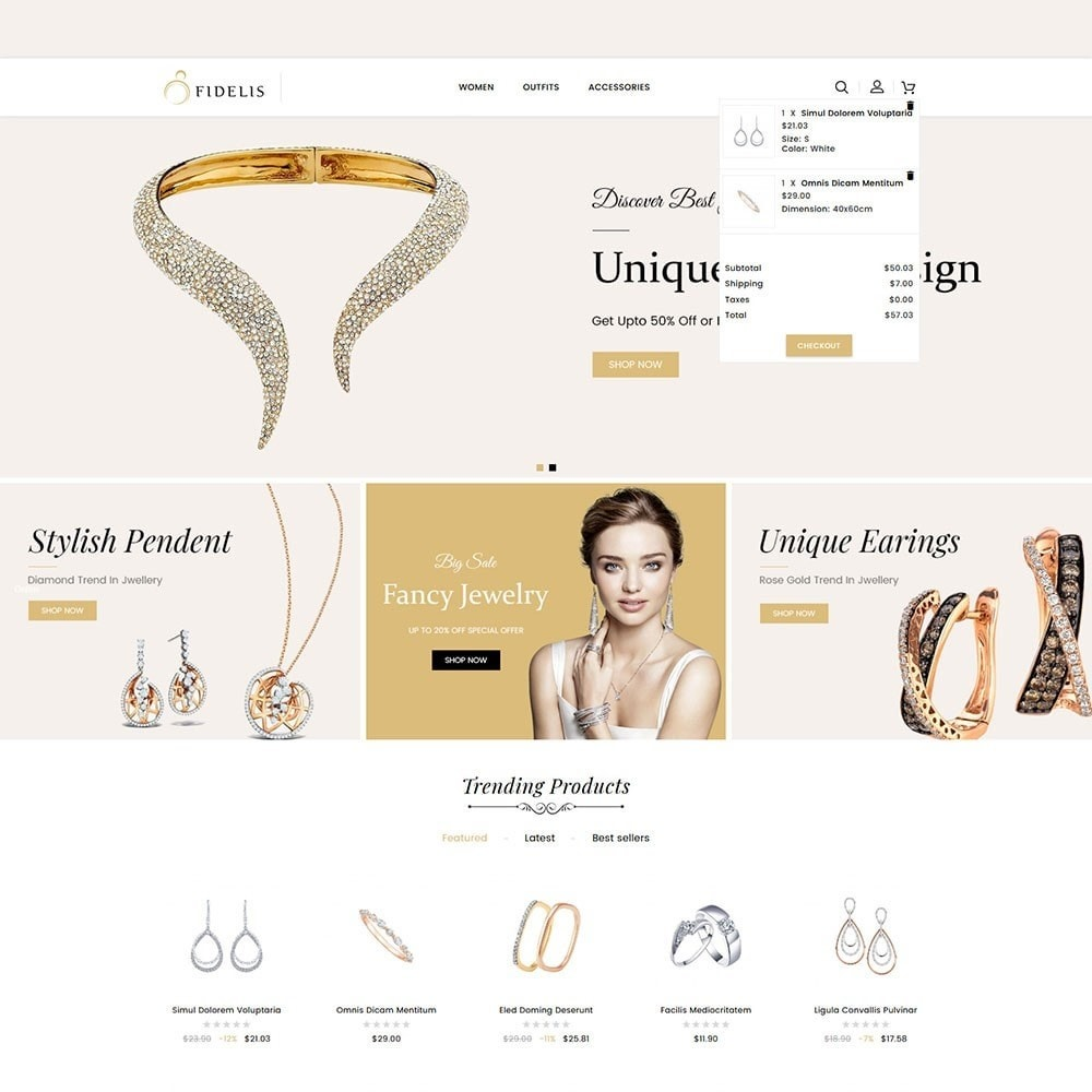 theme - Jewelry & Accessories - Fidelis Jewellery Store - 3