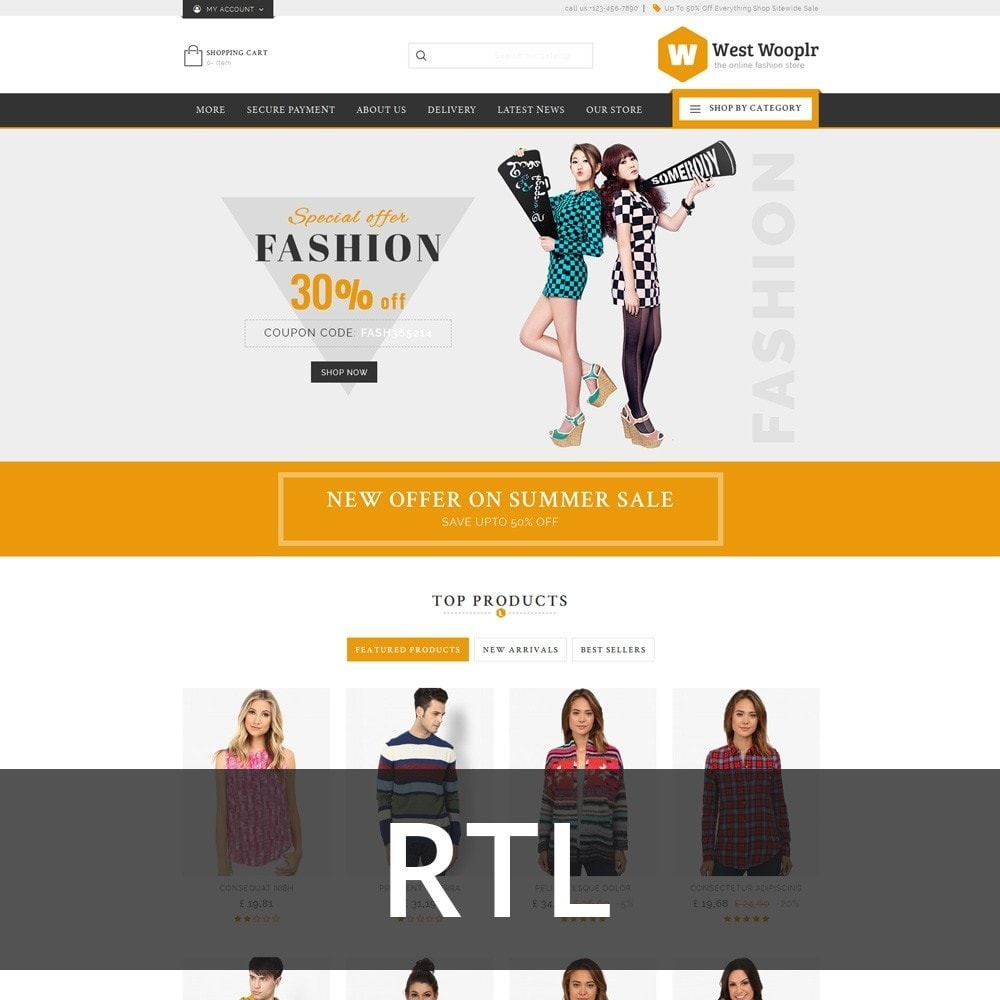 theme - Fashion & Shoes - West Wooplr - The Fashion Store - 3