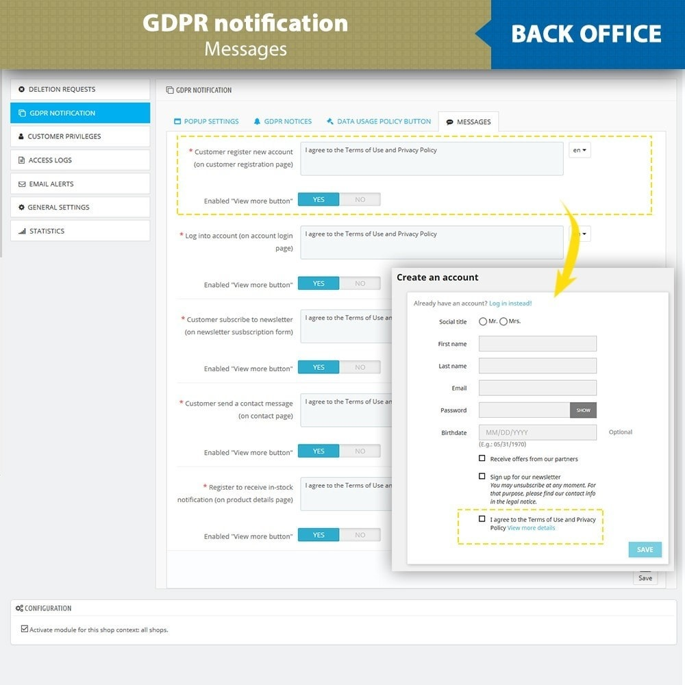 module - Legal - GDPR Compliance - EU Cookies Law Banner - 15