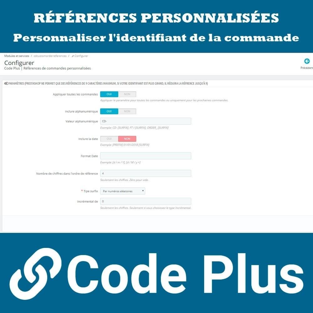 module - Gestion des Commandes - Références de commandes personnalisées - 2