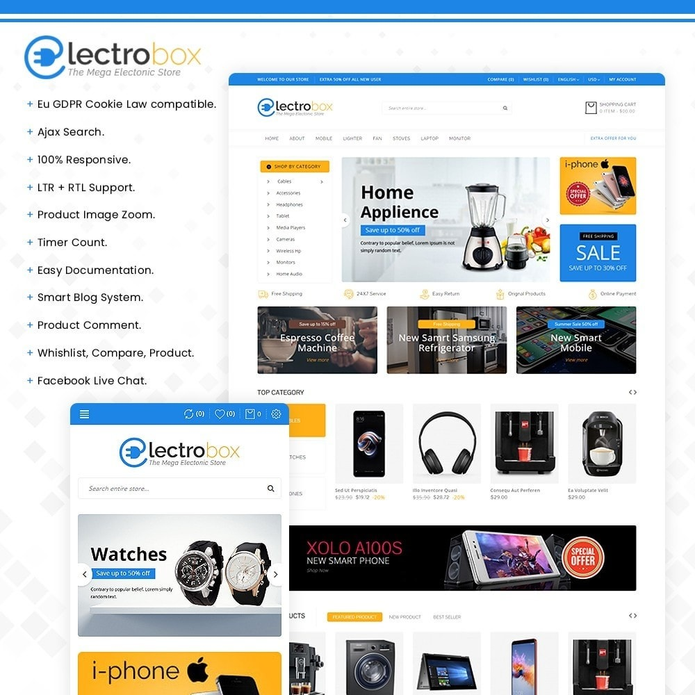 Electrobox – Multipurpose Electronic Store