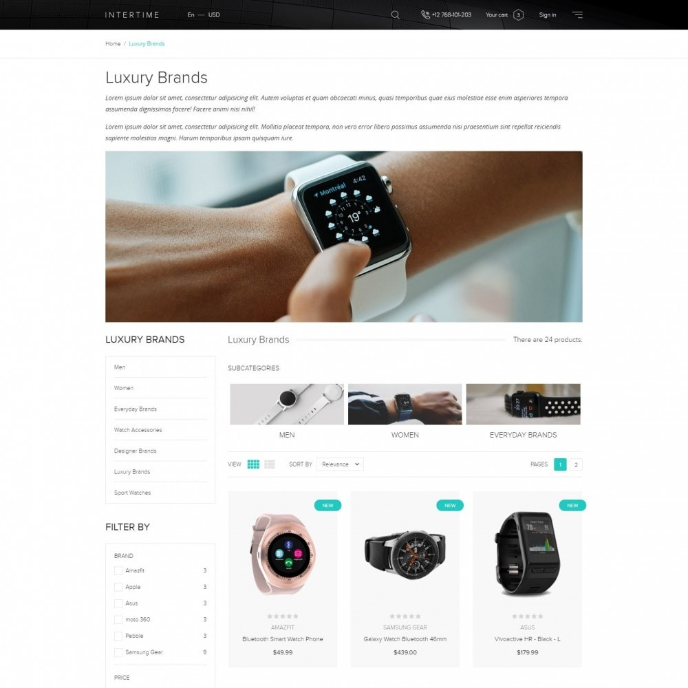 InterTime - Smart Watches Store