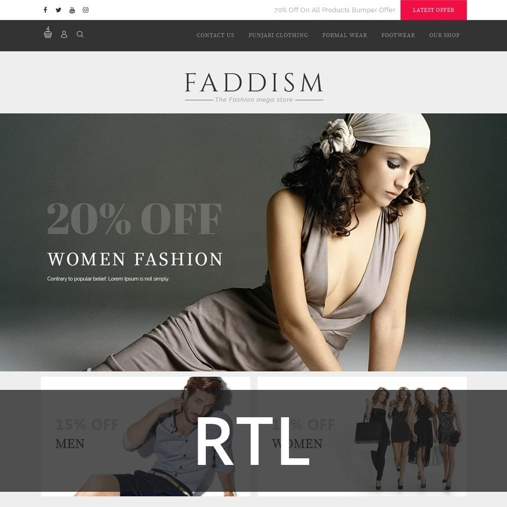 theme - Мода и обувь - Faddism - The Fashion Shop - 3