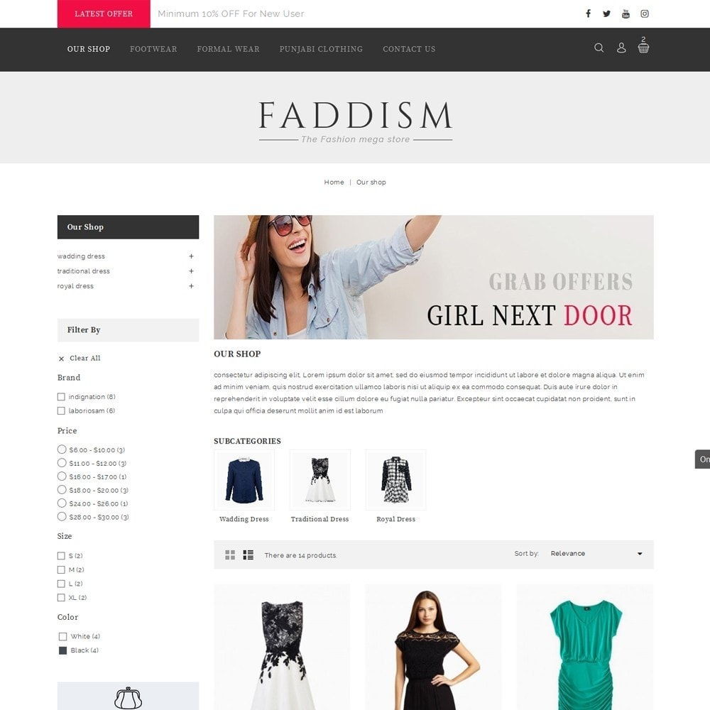 theme - Мода и обувь - Faddism - The Fashion Shop - 4