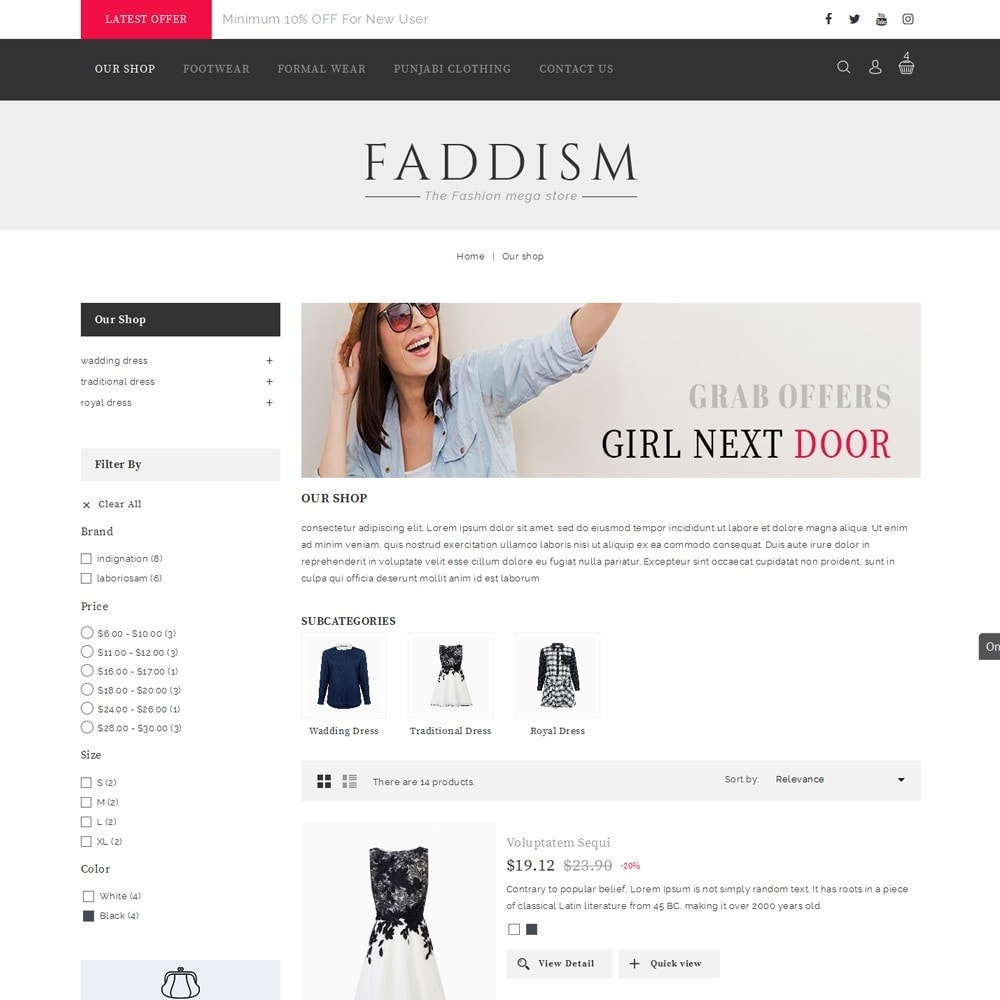 theme - Мода и обувь - Faddism - The Fashion Shop - 5