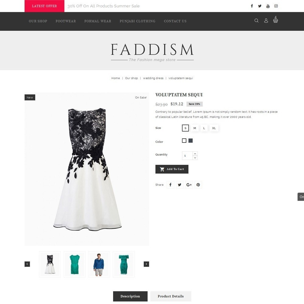 theme - Мода и обувь - Faddism - The Fashion Shop - 6
