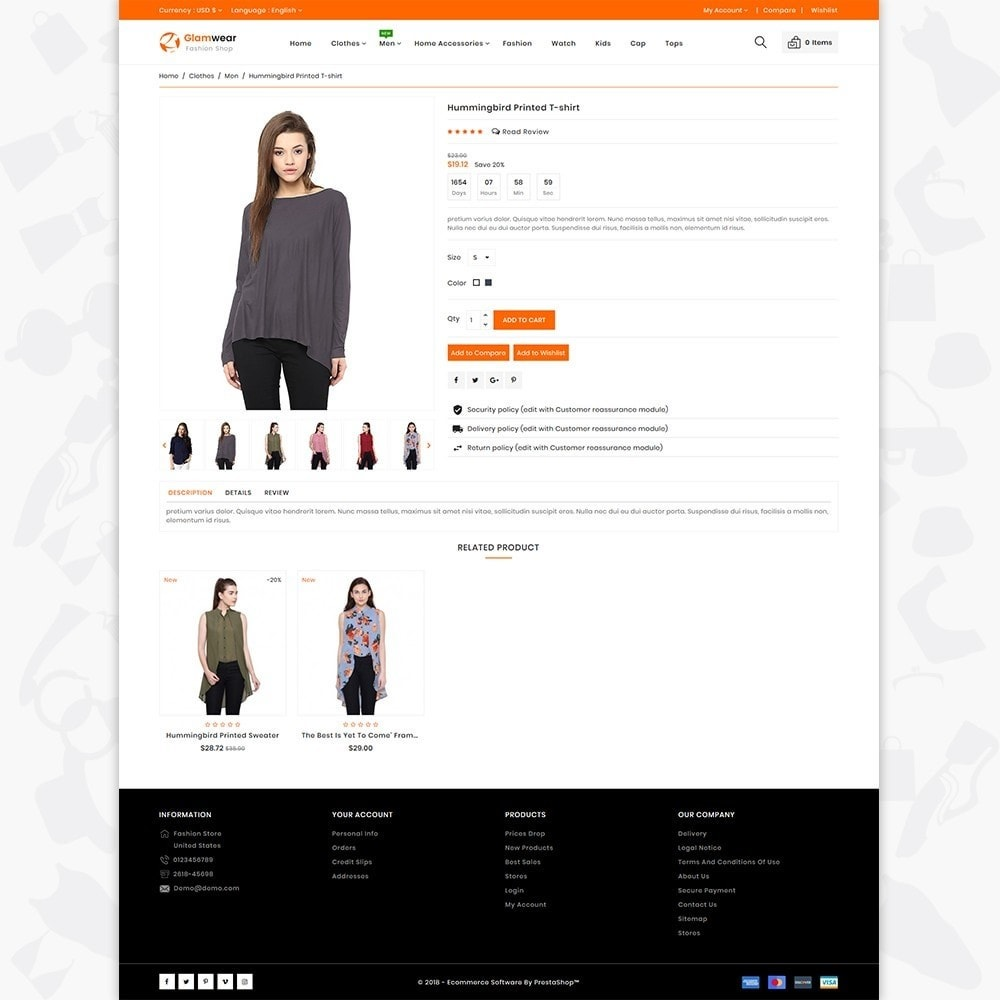 theme - Fashion & Shoes - Glamwear The Best Fashion Store - 5