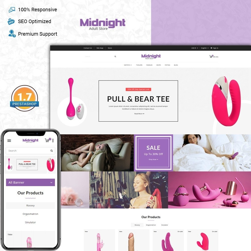 Midnight - adult store