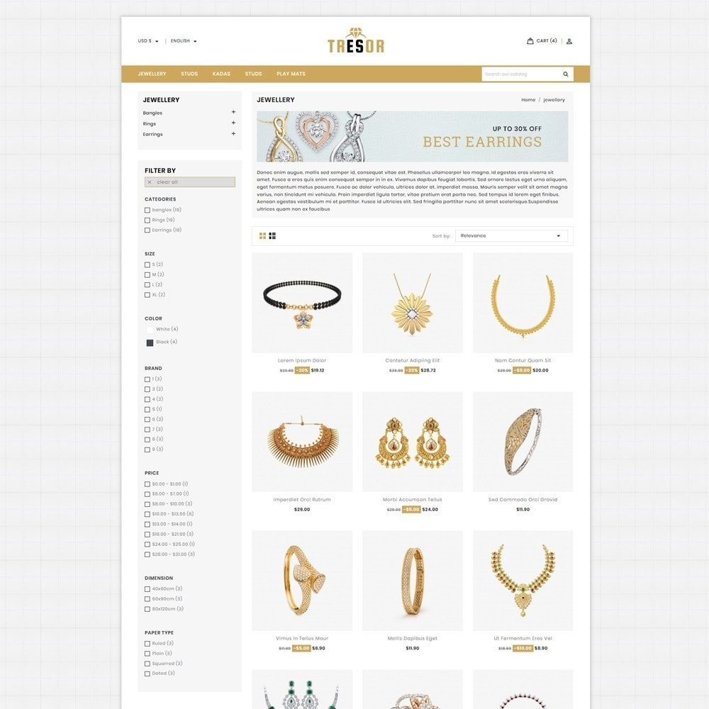 theme - Jewelry & Accessories - Tresor Jewellery Shop - 3